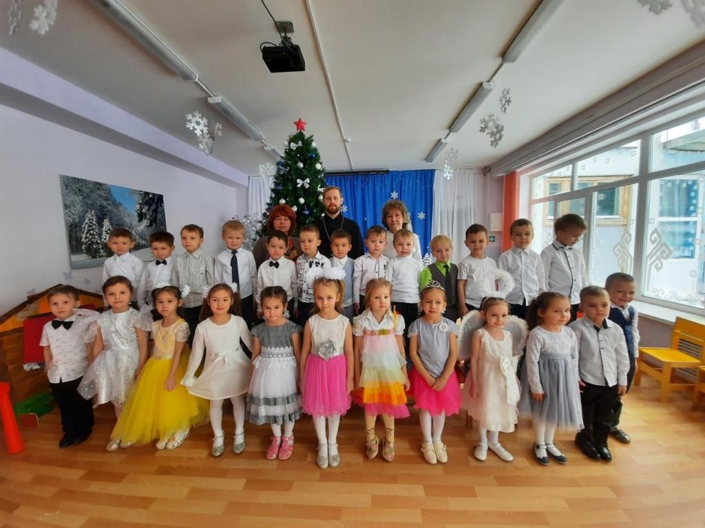 Рождественская встреча с детьми детского сада